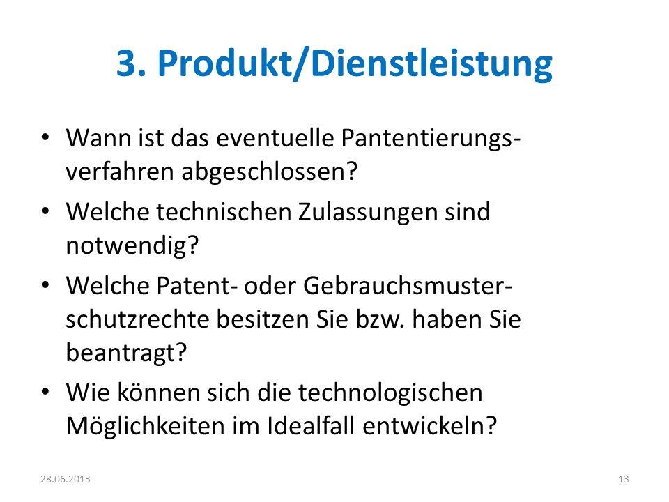 3. Produkt/Dienstleistung