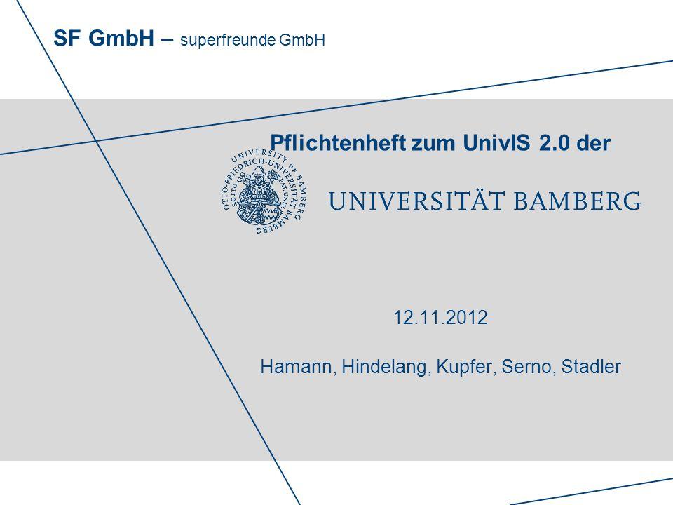 Pflichtenheft zum UnivIS 2. 0 der 12. 11