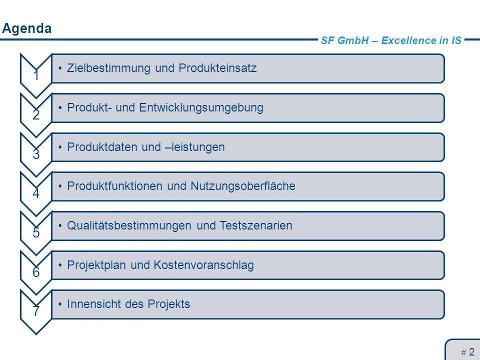 Agenda 1 2 3 4 5 6 7 Zielbestimmung und Produkteinsatz