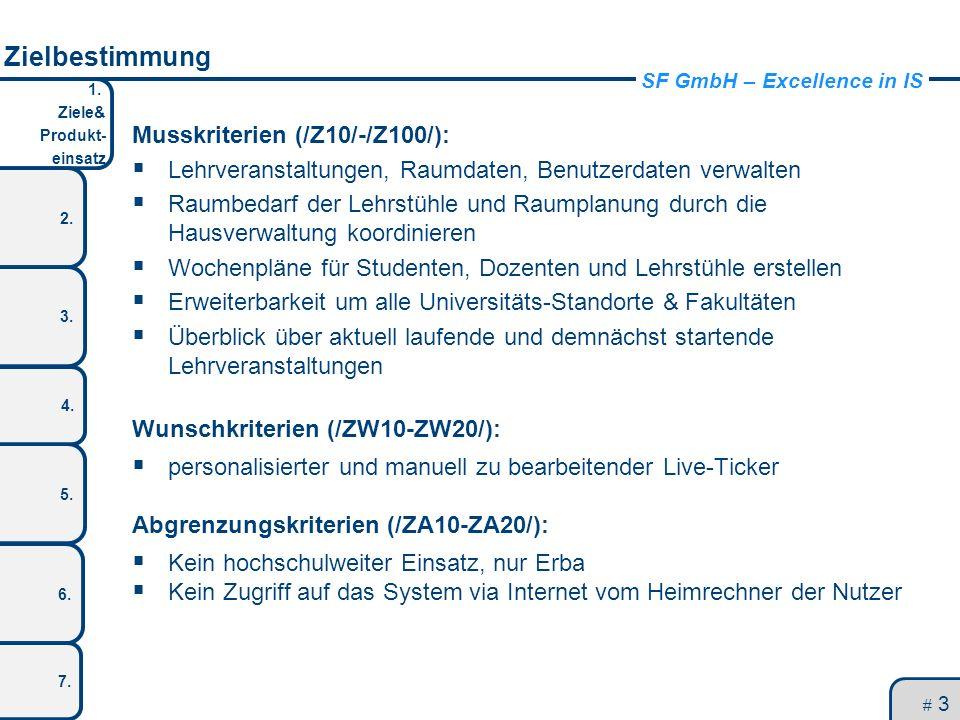 Zielbestimmung Musskriterien (/Z10/-/Z100/):