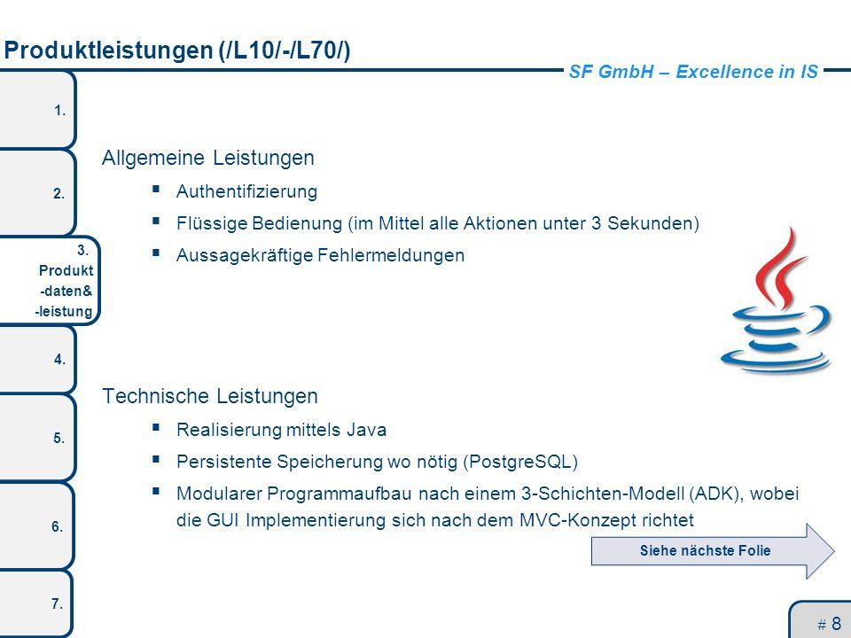Produktleistungen (/L10/-/L70/)