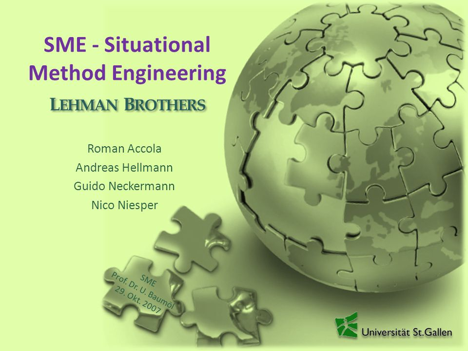 SME - Situational Method Engineering