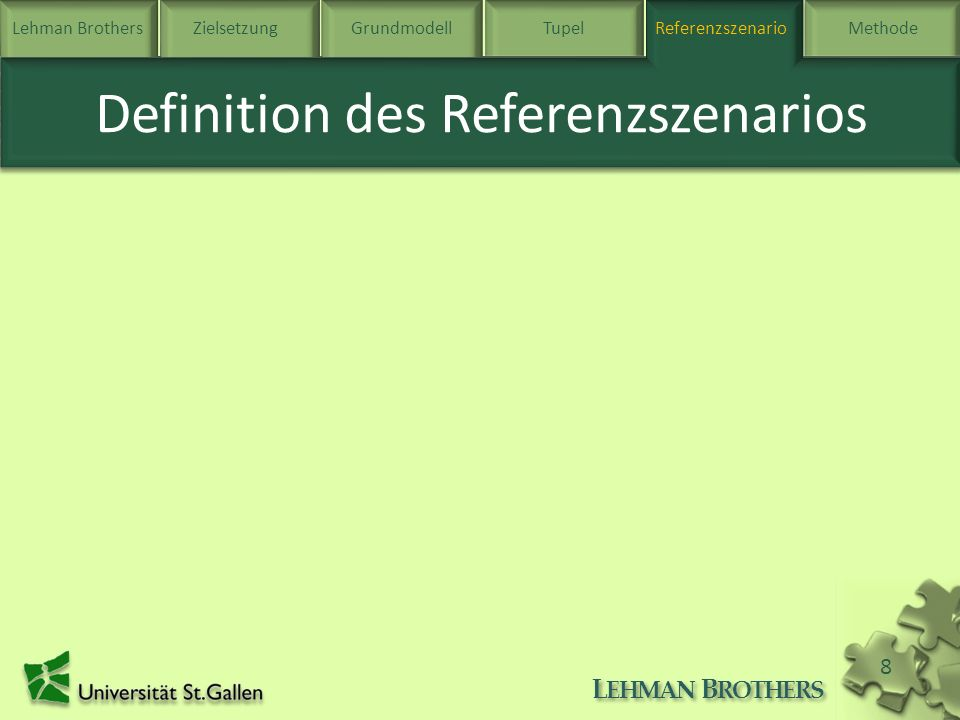 Definition des Referenzszenarios