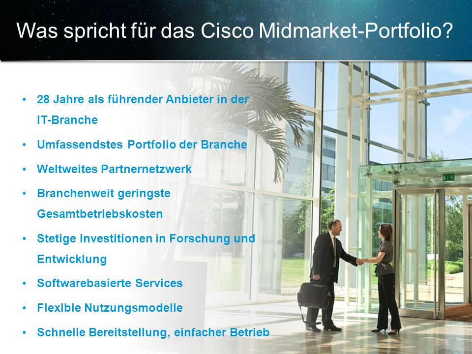 Was spricht für das Cisco Midmarket-Portfolio