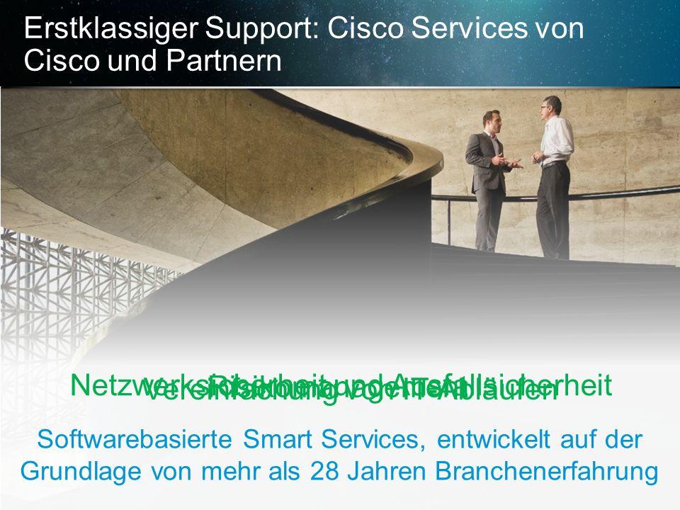 Erstklassiger Support: Cisco Services von Cisco und Partnern