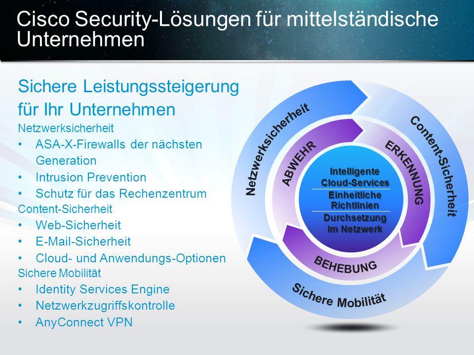 Cisco Security-Lösungen für mittelständische Unternehmen