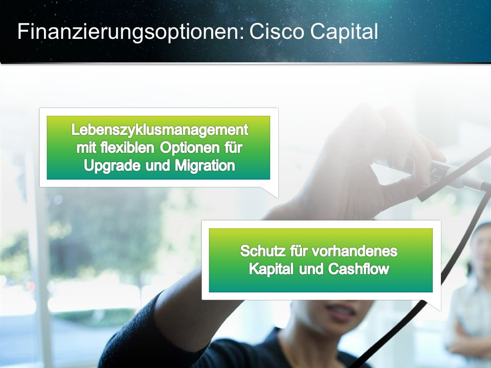 Finanzierungsoptionen: Cisco Capital