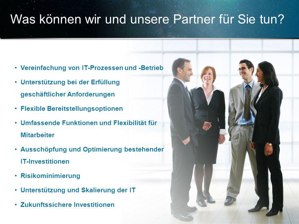 Was können wir und unsere Partner für Sie tun
