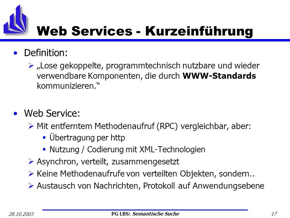 Web Services - Kurzeinführung