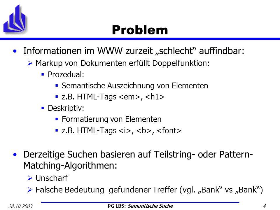 """Problem Informationen im WWW zurzeit """"schlecht auffindbar:"""