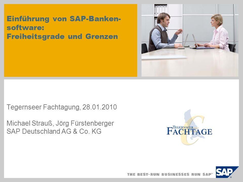 Einführung von SAP-Banken-software: Freiheitsgrade und Grenzen