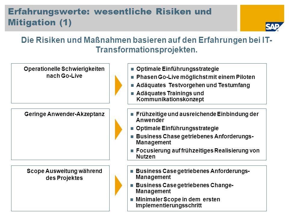 Erfahrungswerte: wesentliche Risiken und Mitigation (1)