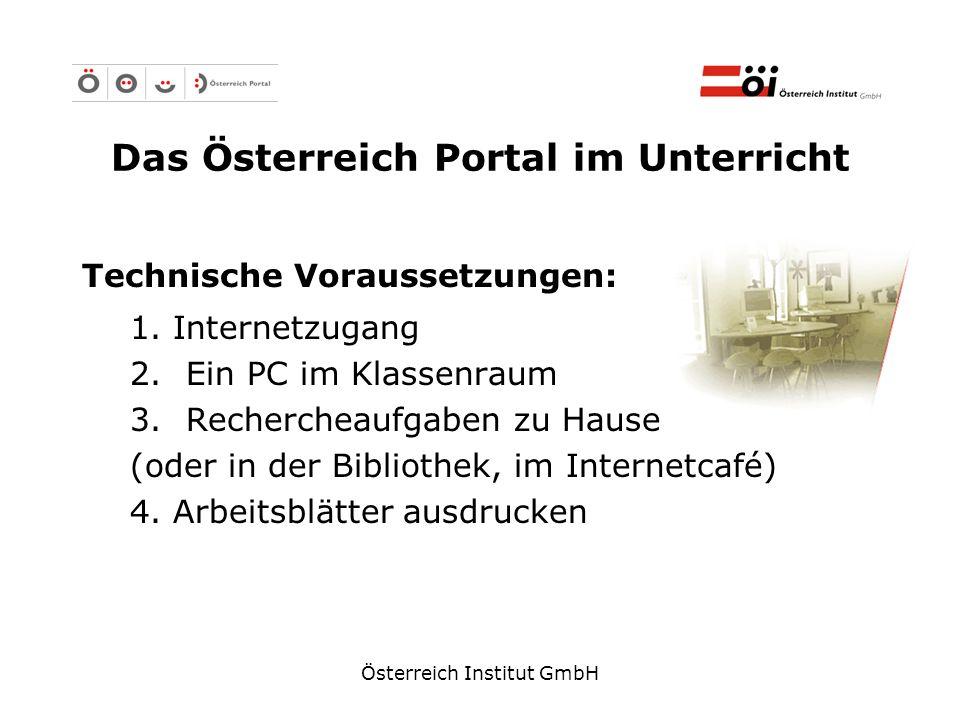 Das Österreich Portal im Unterricht