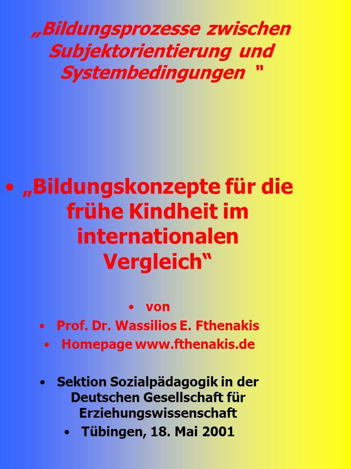 """""""Bildungsprozesse zwischen Subjektorientierung und Systembedingungen"""