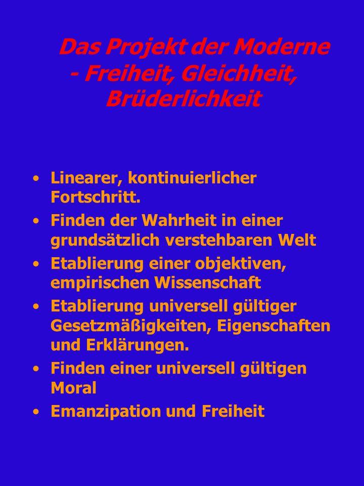 Das Projekt der Moderne - Freiheit, Gleichheit, Brüderlichkeit