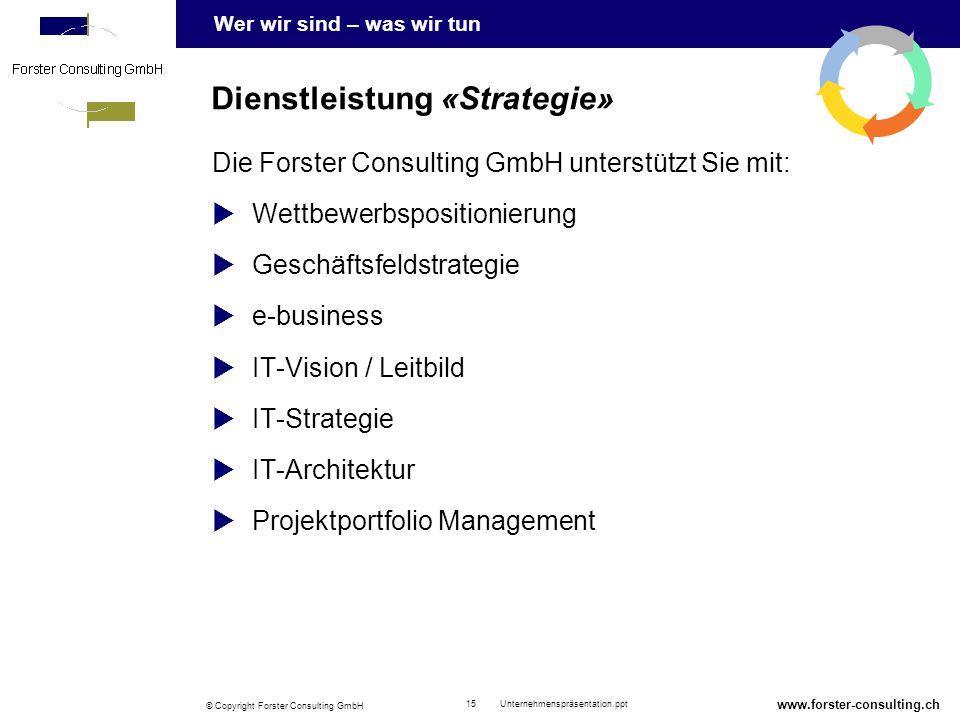 Dienstleistung «Strategie»