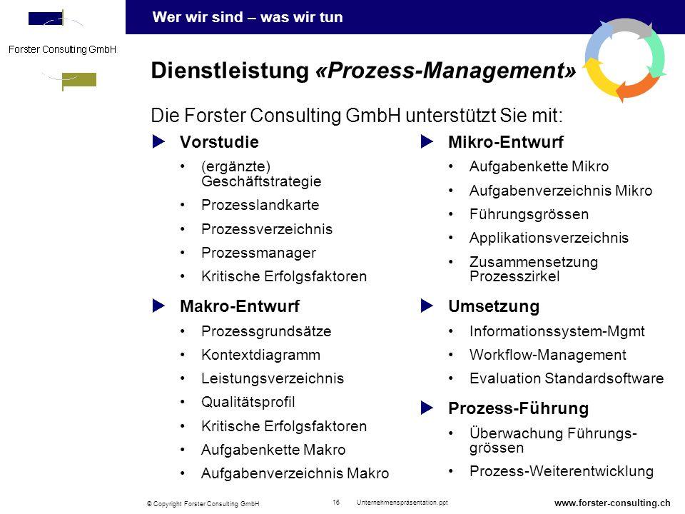 Dienstleistung «Prozess-Management»