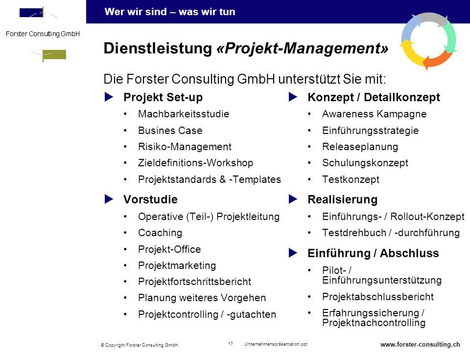 Dienstleistung «Projekt-Management»
