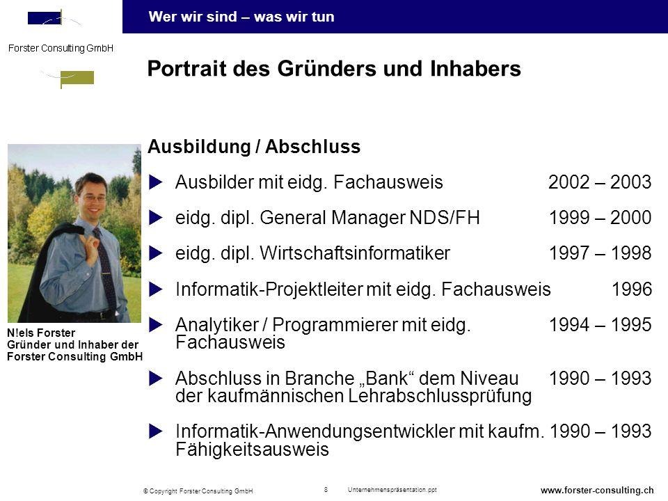 Portrait des Gründers und Inhabers