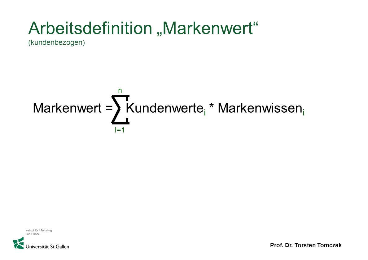 """Arbeitsdefinition """"Markenwert (kundenbezogen)"""