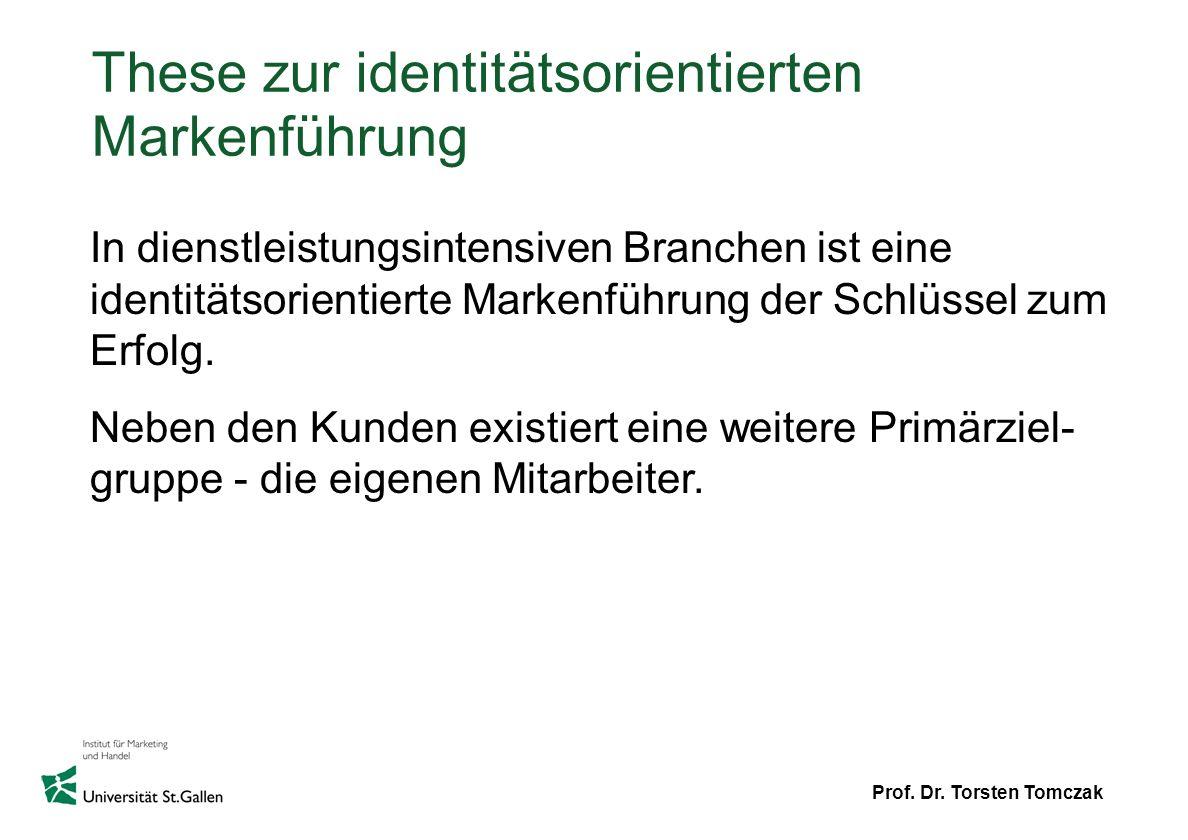 These zur identitätsorientierten Markenführung
