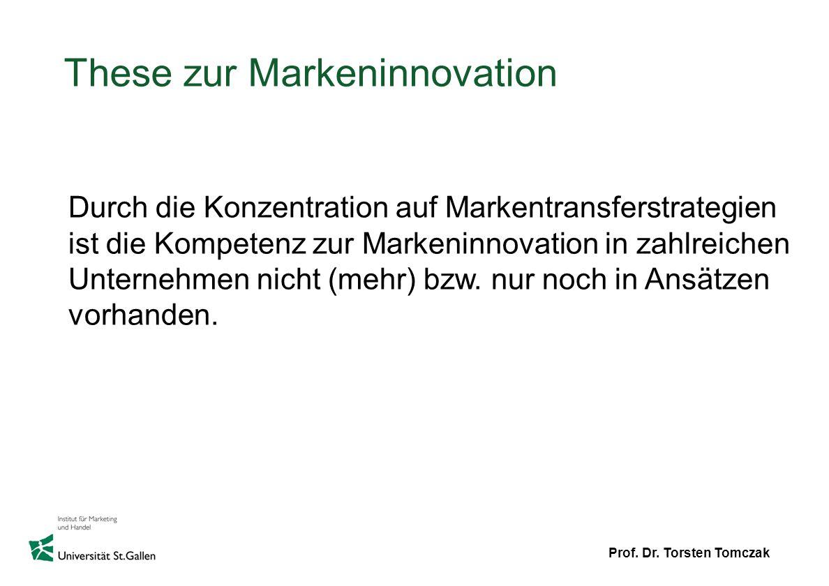 These zur Markeninnovation
