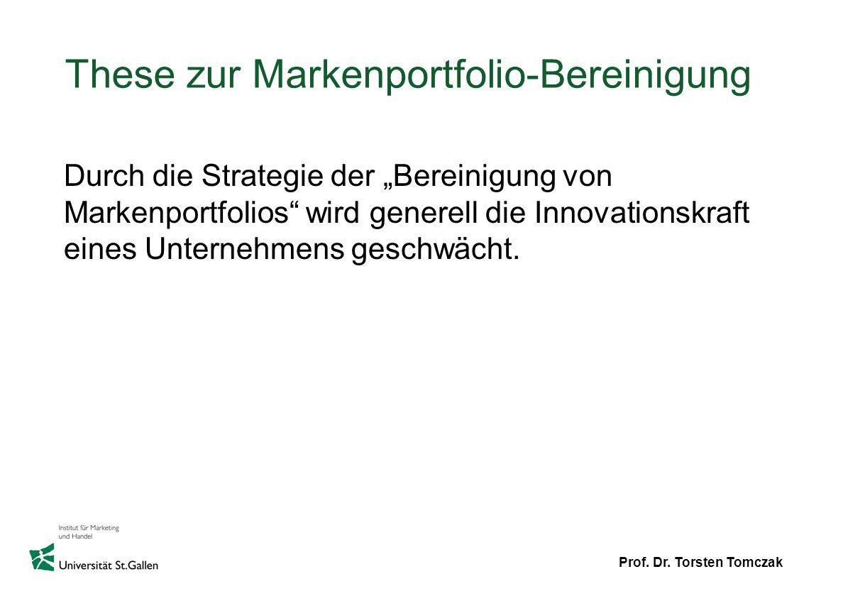 These zur Markenportfolio-Bereinigung