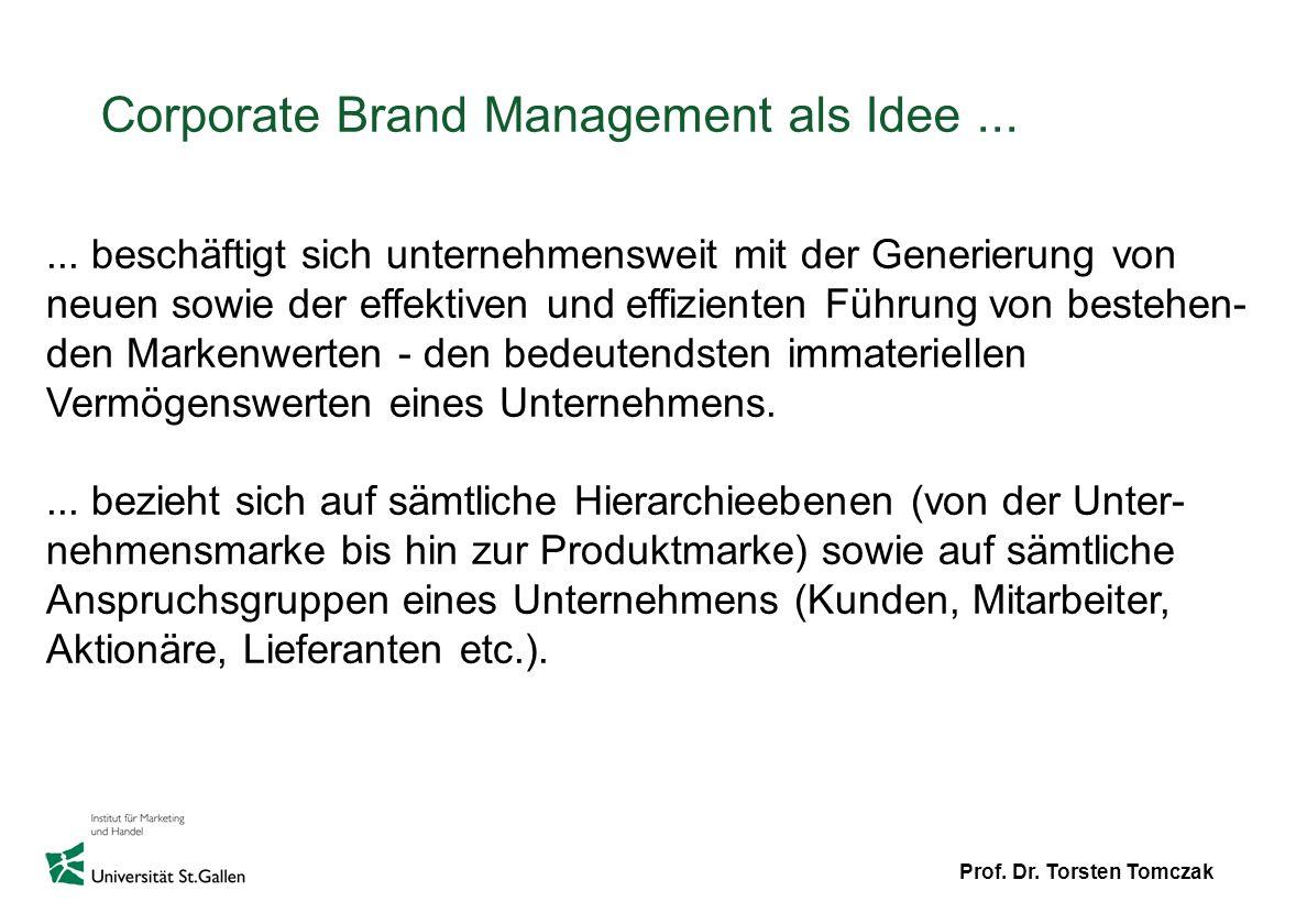 Corporate Brand Management als Idee ...