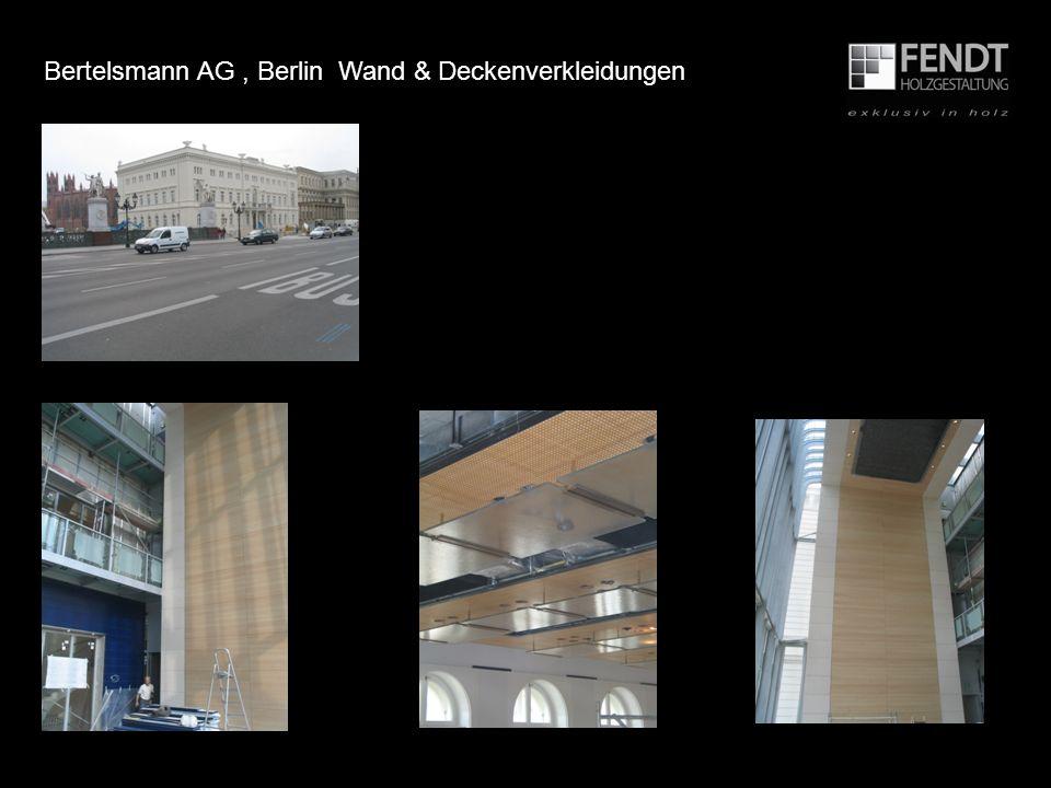 Bertelsmann AG , Berlin Wand & Deckenverkleidungen