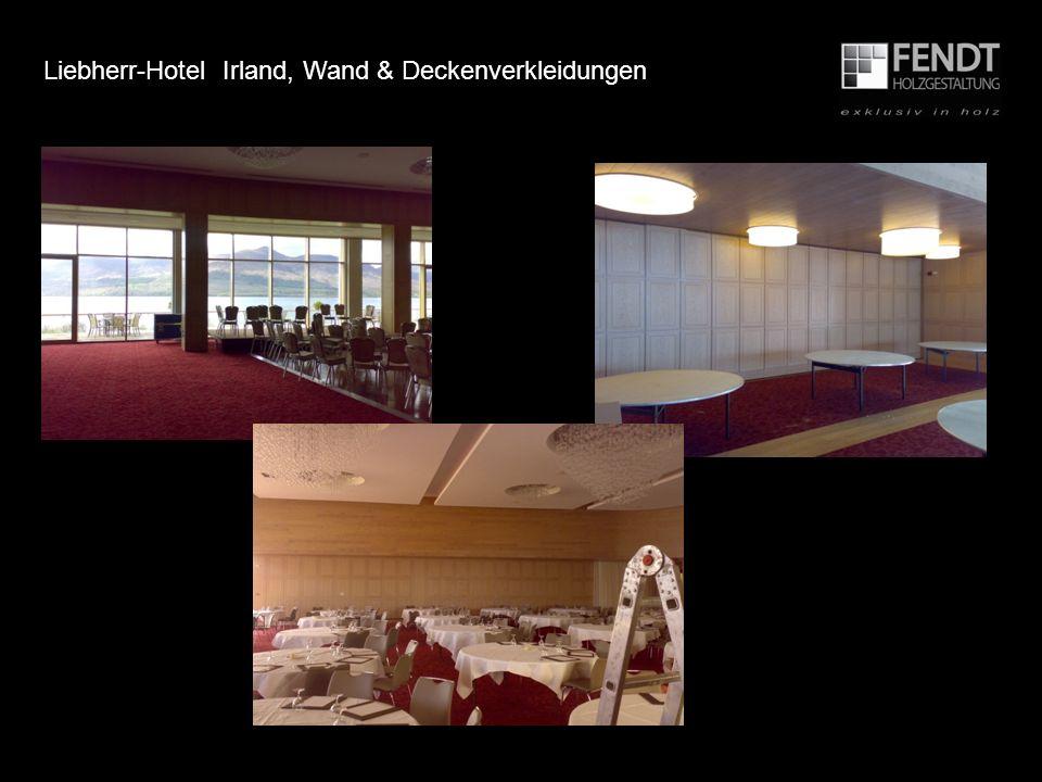 Liebherr-Hotel Irland, Wand & Deckenverkleidungen