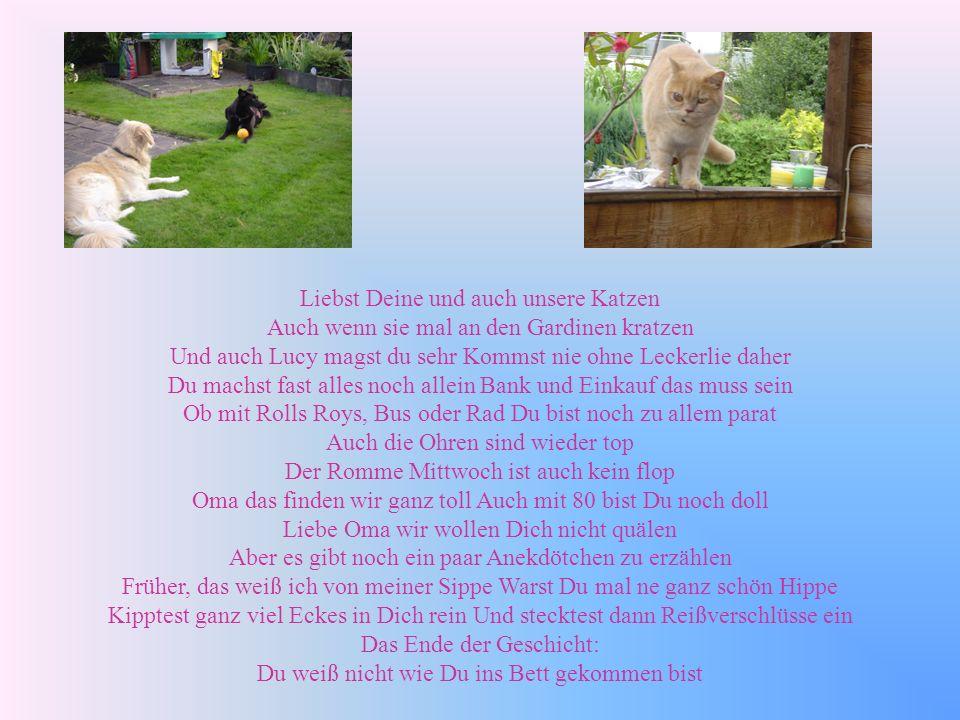 Liebst Deine und auch unsere Katzen