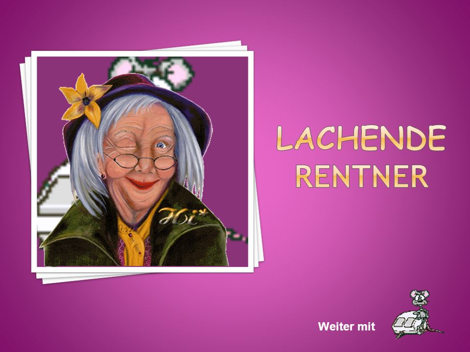 Lachende Rentner Weiter mit