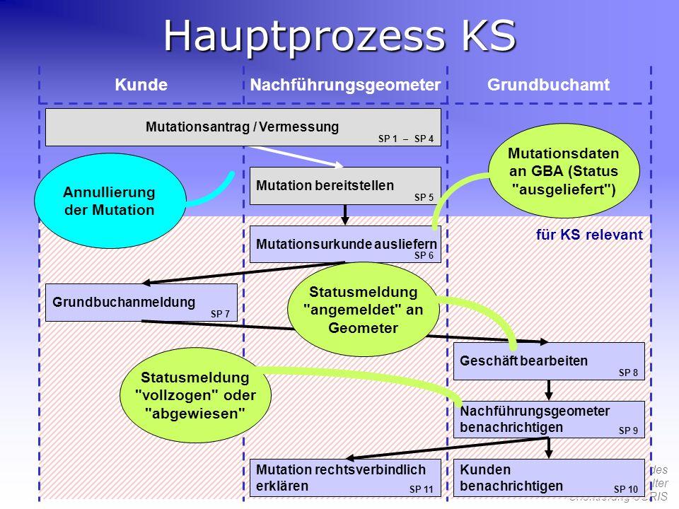 Hauptprozess KS Kunde Nachführungsgeometer Grundbuchamt Mutationsdaten