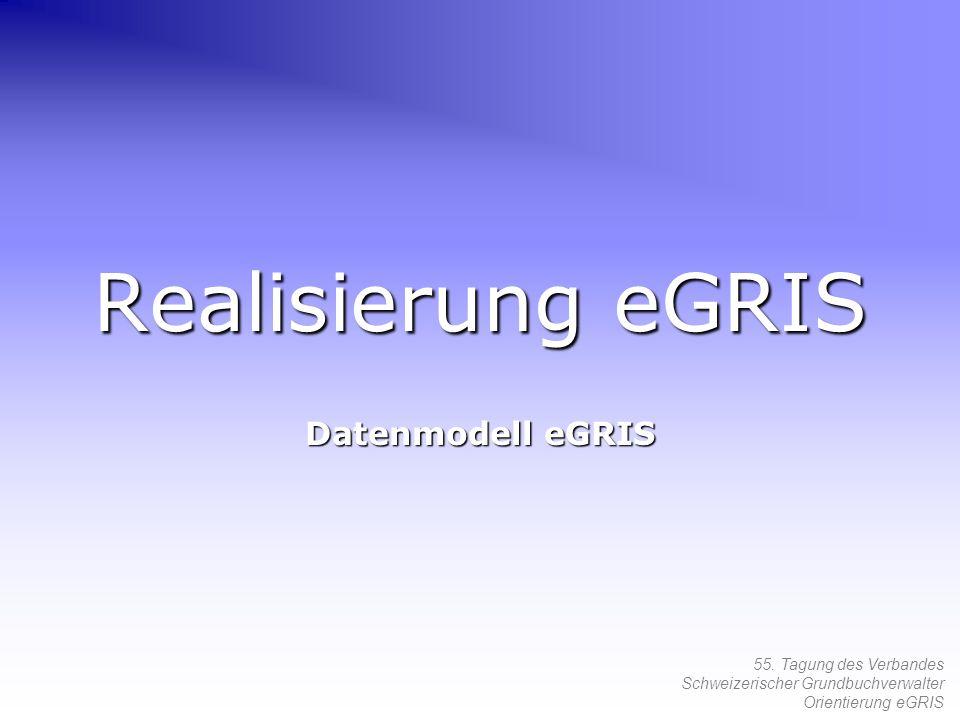 Realisierung eGRIS Datenmodell eGRIS