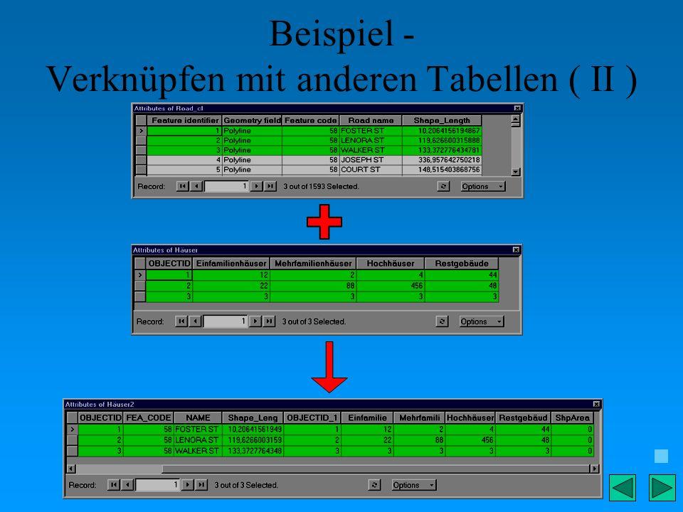Beispiel - Verknüpfen mit anderen Tabellen ( II )