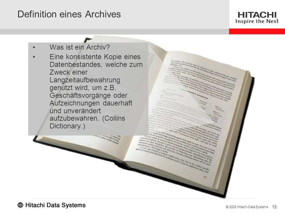 Definition eines Archives