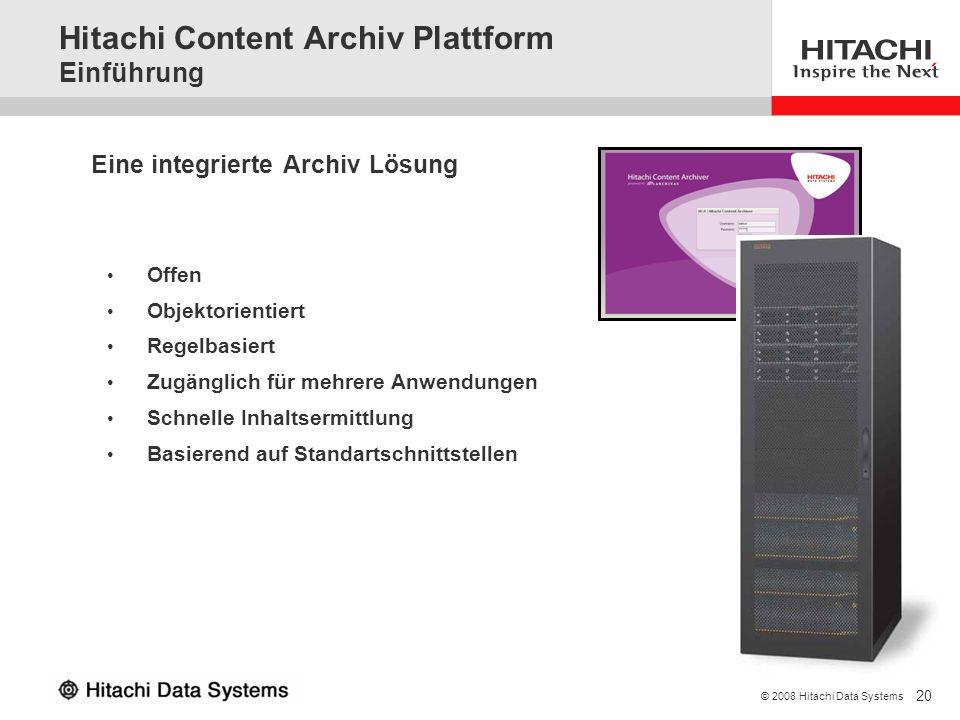 Hitachi Content Archiv Plattform Einführung