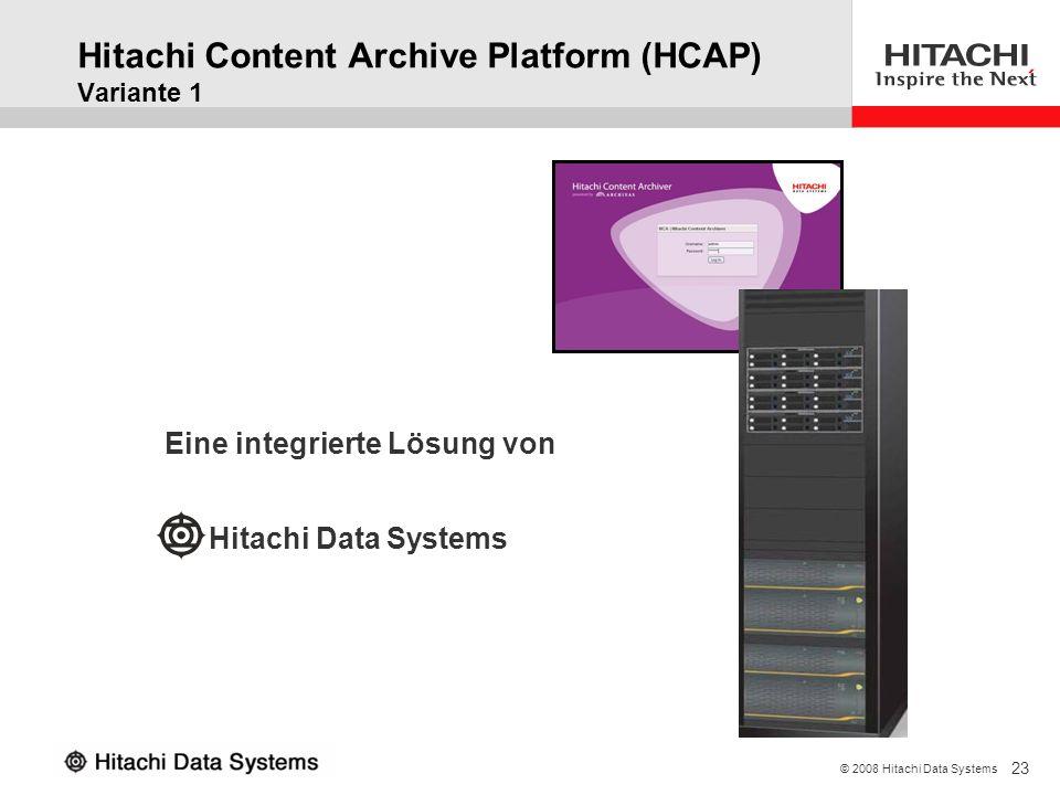 Hitachi Content Archive Platform (HCAP) Variante 1