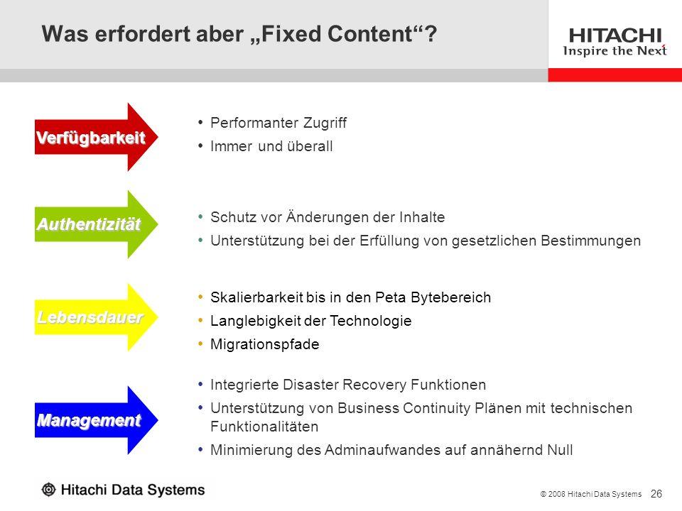 "Was erfordert aber ""Fixed Content"