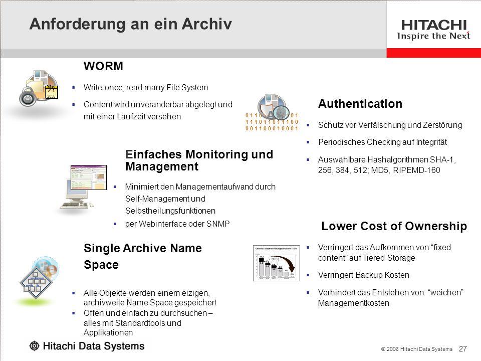 Anforderung an ein Archiv