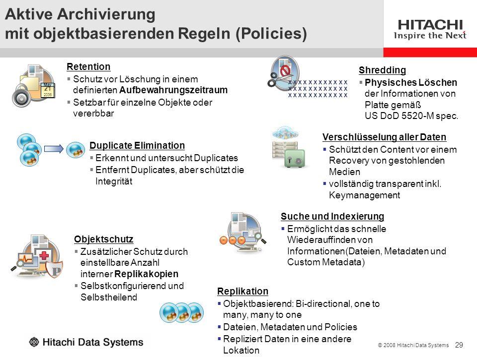 Aktive Archivierung mit objektbasierenden Regeln (Policies)