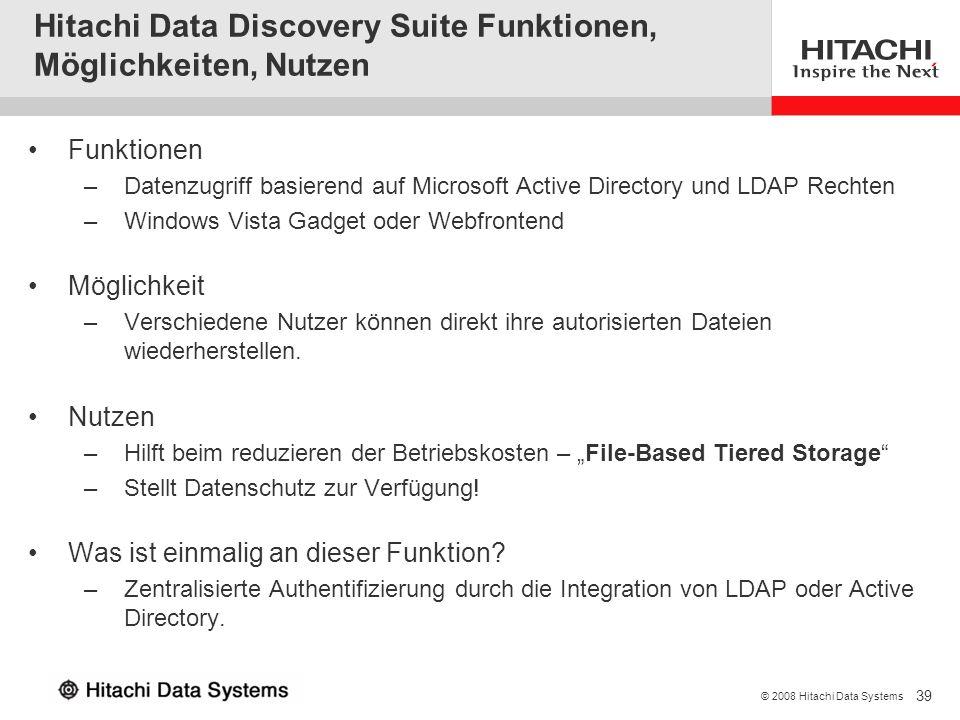 Hitachi Data Discovery Suite Funktionen, Möglichkeiten, Nutzen