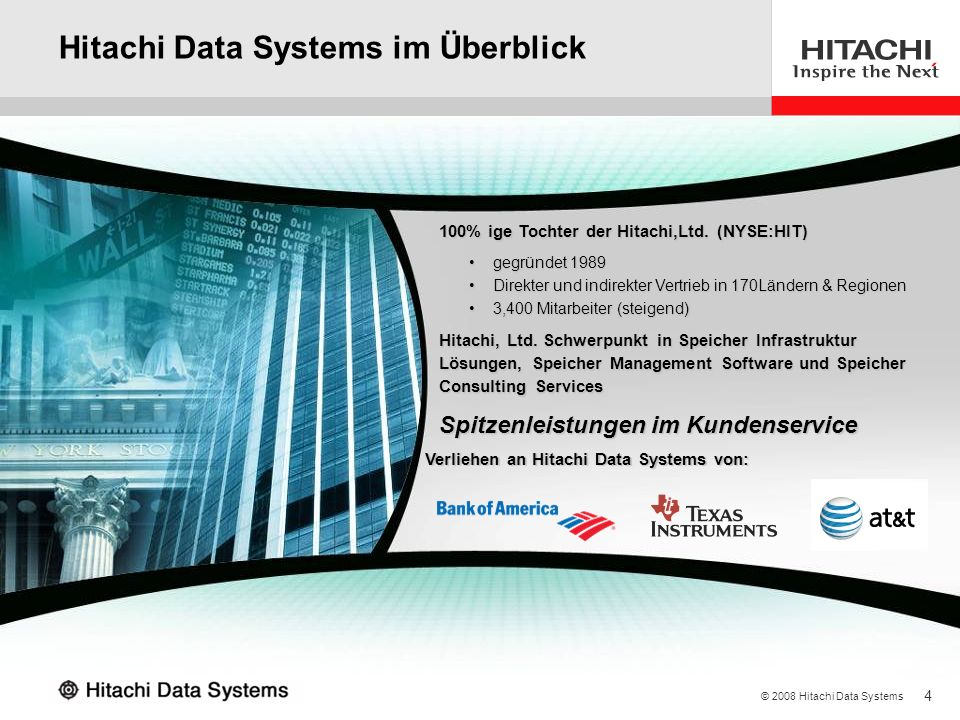 Hitachi Data Systems im Überblick