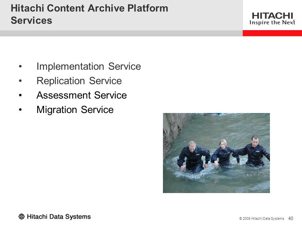 Hitachi Content Archive Platform Services