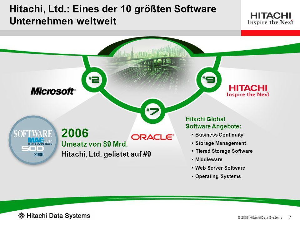 Hitachi, Ltd.: Eines der 10 größten Software Unternehmen weltweit