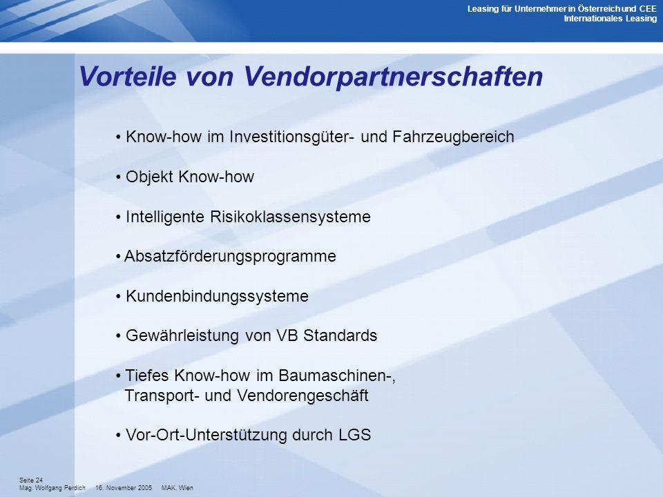 Vorteile von Vendorpartnerschaften