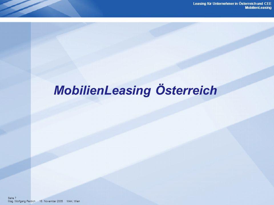 MobilienLeasing Österreich