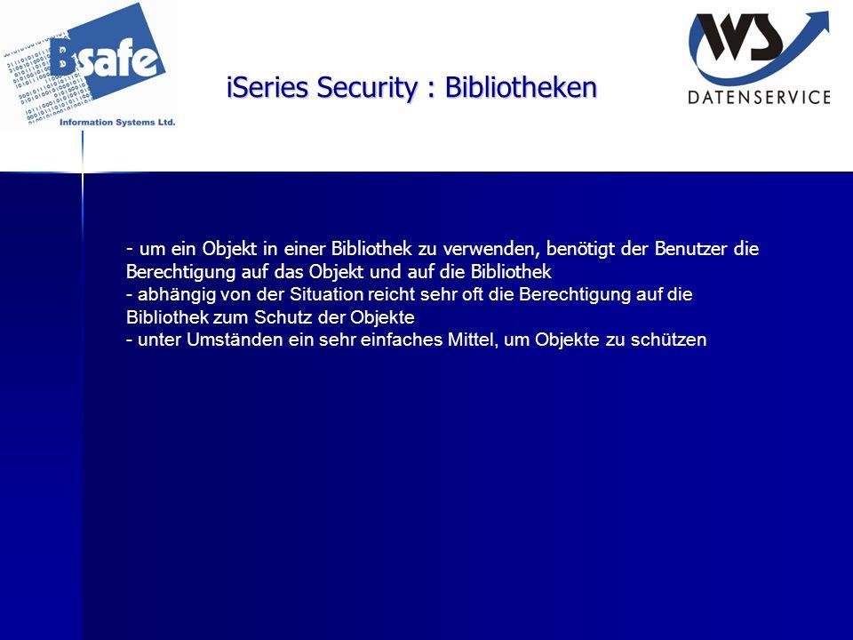 iSeries Security : Bibliotheken