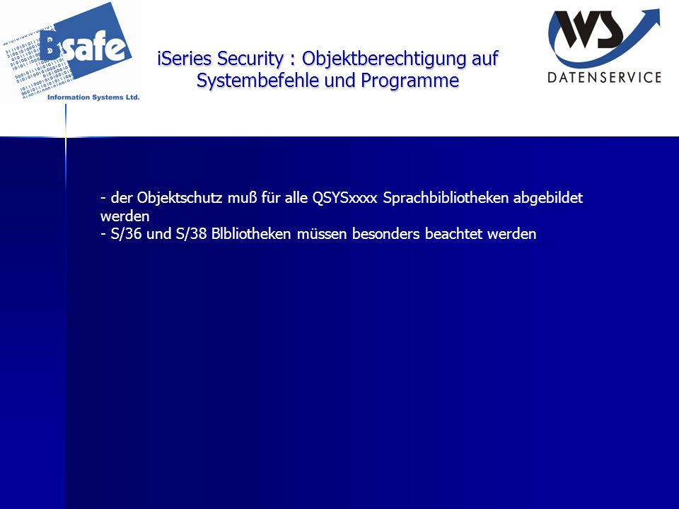iSeries Security : Objektberechtigung auf Systembefehle und Programme