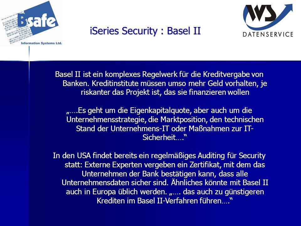 iSeries Security : Basel II
